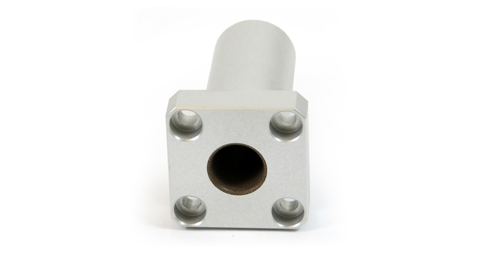 Bottom view of DFPM (Metric) Square Flange Mount Double Linear Plain Bearing