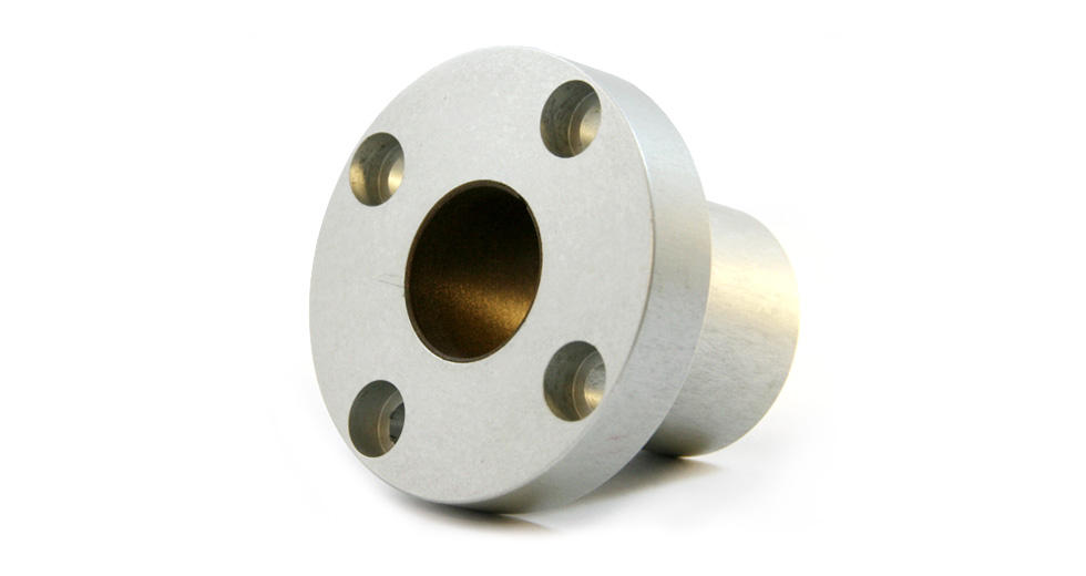 Bottom view of SFPJR (JIS) Round Flange Mount Linear Plain Bearing