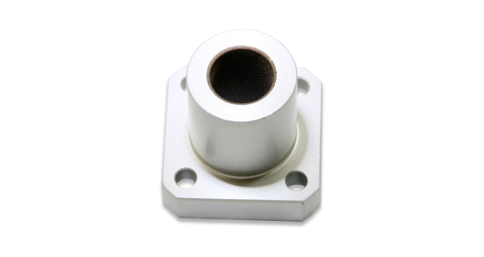 Top view of SFPM (Metric) Square Flange Mount Single Plain Linear Bearing