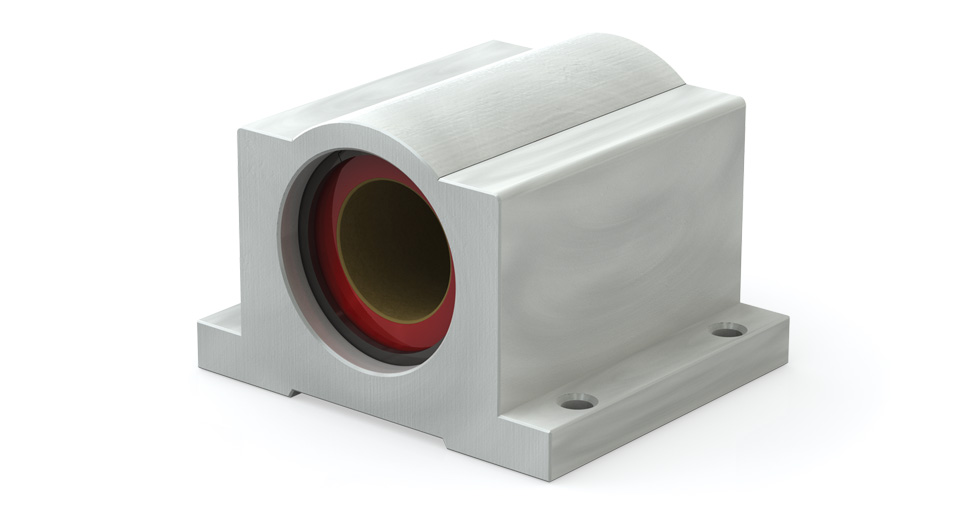 Main view of PC (Inch) Closed Compensated PTFE coated self-lubricating pillow blocks