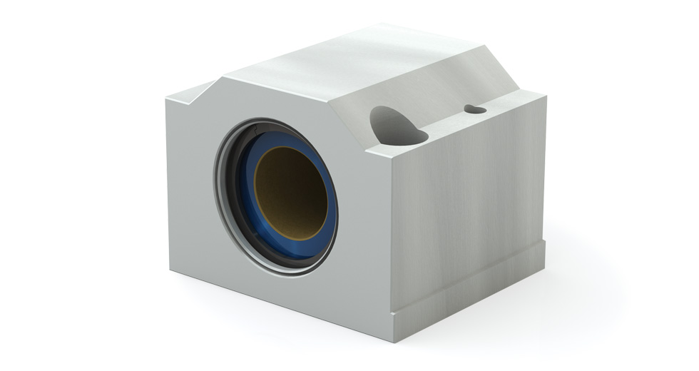 Main view of PM Metric Closed compensated Linear Plain Bearing Pillow Blocks