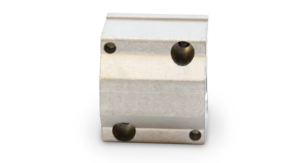 Top view of PM Metric Closed Linear Plain Bearing Pillow Blocks