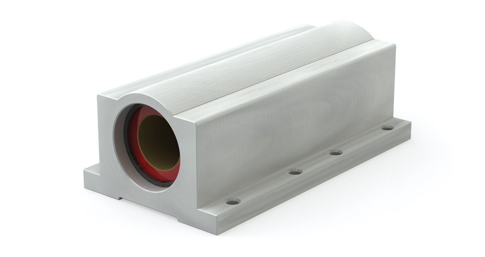 Main view of PWC (Inch) Closed Wide Compensated PTFE coated self-lubricating pillow blocks