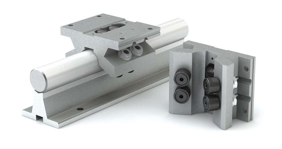 Product view of MDPB (Metric) Double Roller Pillow Block