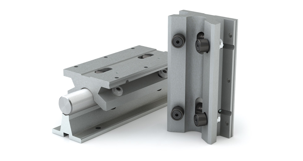 Product view of MTWN (Metric) Twin Roller Pillow Block