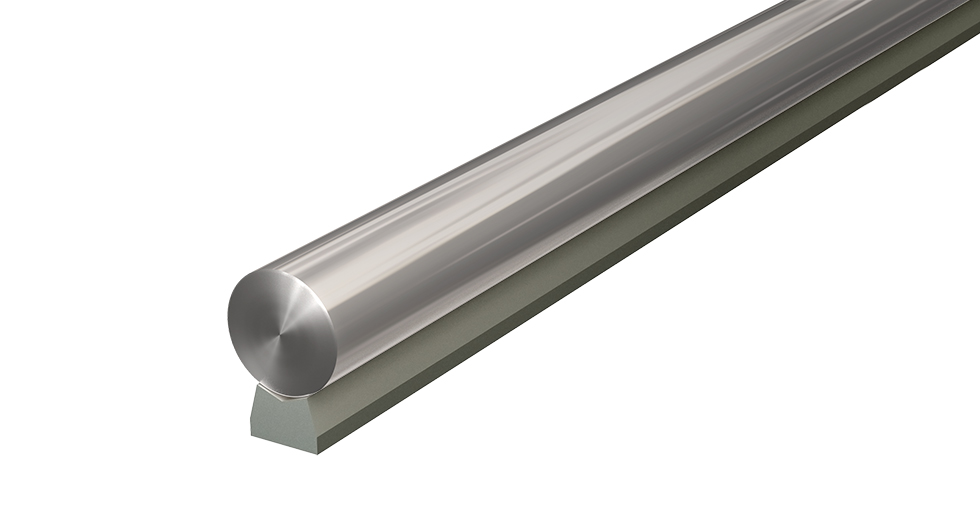 LSRA LEE Linear Steel Low Support Rail and Shaft Assembly LSRMPD LEE Linear Steel Low Support Rail Pre-Drilled (Metric)