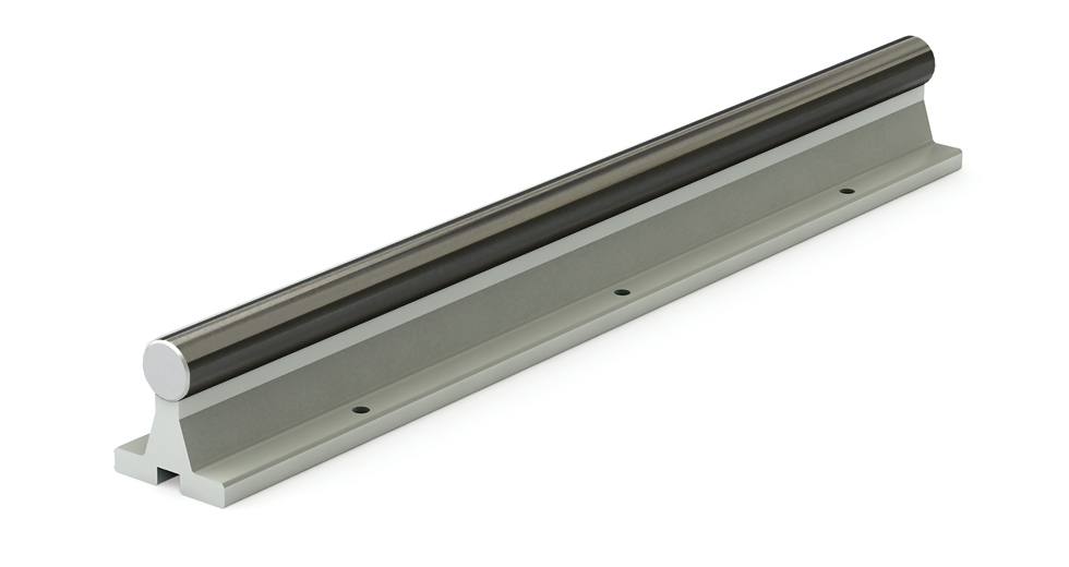 SRACC LEE Linear Ceramic Coated Shafting Aluminum Support Rail Assembly (Inch)