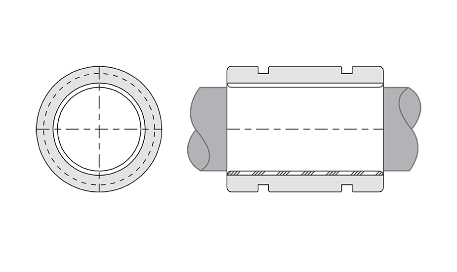 Simplicity Plain Linear Bearing Diagram (FMTC) Closed Compensated Thin Wall Metric