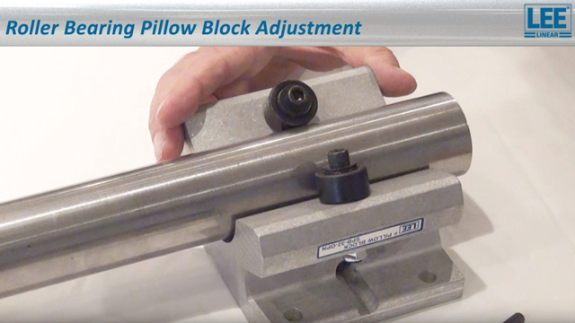 How To: Roller Bearing Pillow Block Adjustment